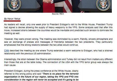 Erdoğan-Trump Görüşmesi, Derin Devlet ve YPG Gerçeği