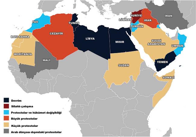 Arab Spring map 1. AÇIK TOPLUM İDEOLOJİSİ VE SOROS VAKFI
