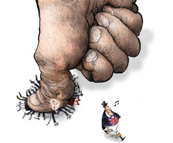 brexit karikatur AB VE NATODA İNGİLİZ DERİN DEVLETİ